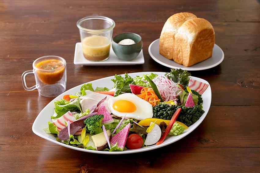 極上 鎌倉ベジタブル&生食パン(山型)ランチセット